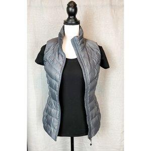 Athleta Downalicious Deluxe Gray Puffer Vest XXS